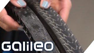 Reifen aus dem 3D-Drucker - Welche Fahrrad-Gadgets machen unser Leben sicher? | Galileo | ProSieben