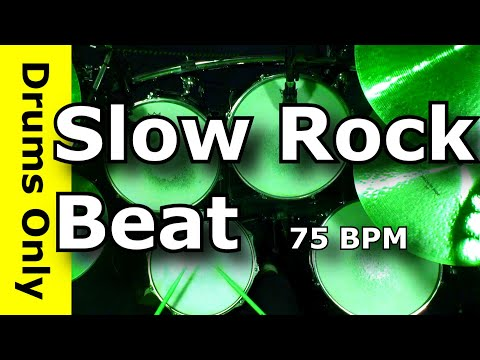 Slow Rock Drum Beat 75 BPM - JimDooley.net