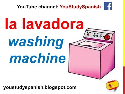 Spanish Lesson 68 - Home APPLIANCES in Spanish Household Vocabulary Utensils Parts of the house