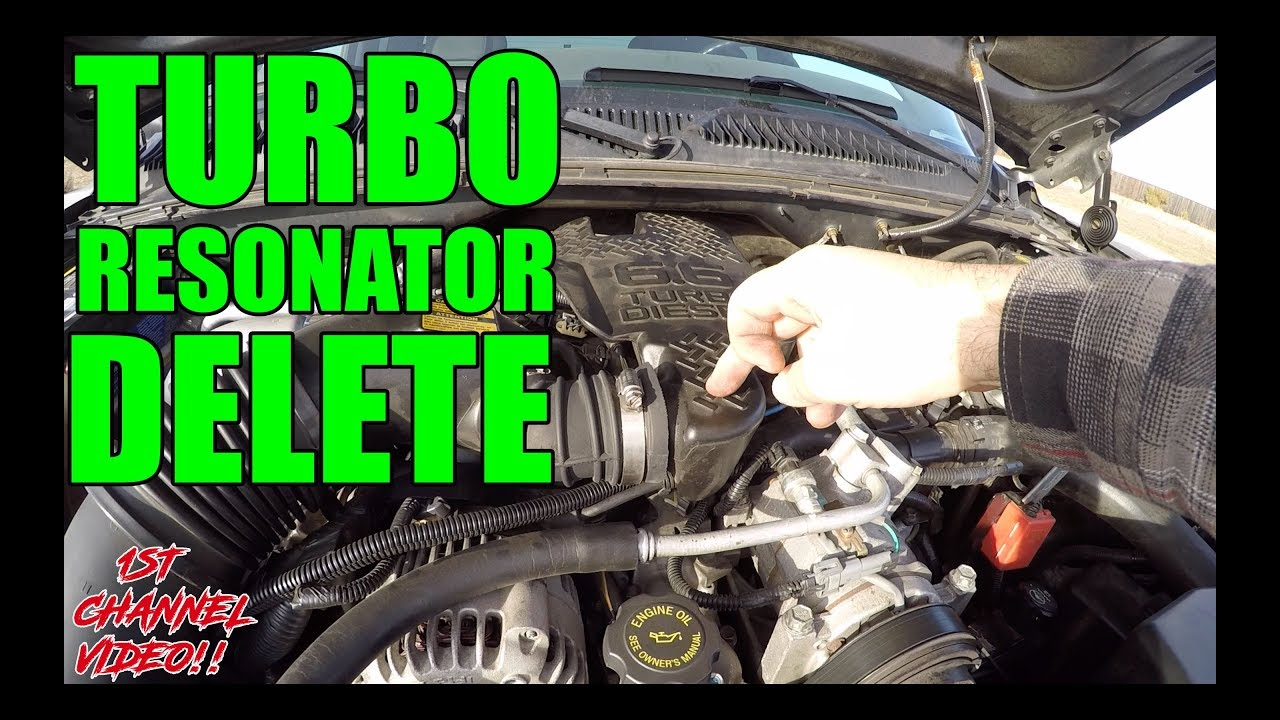 Duramax Lb7 Turbo Resonator Delete Youtube 2008 Lmm Fuel Filter Replacement