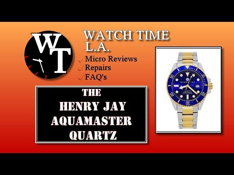 Henry Jay Aquamaster Watch Review Model HJ2001
