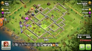 Clash of Clans FARM HDV 12 - Toutes Ressources OR ROSE NOIR