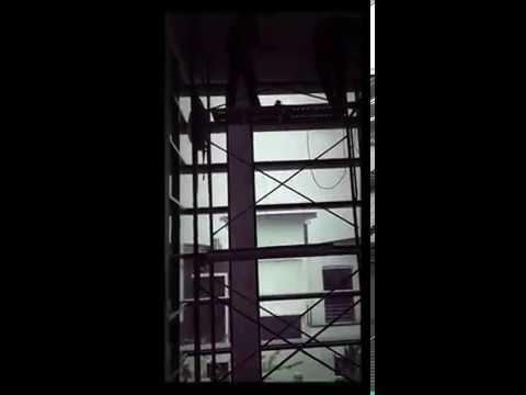 Scaffolding install CURTAIN
