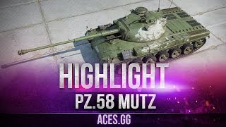 Немецкий медведь Pz. 58 Mutz видео в World of Tanks