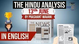 English 13 June 2018 - The Hindu Editorial News Paper Analysis - [UPSC/SSC/IBPS] Current affairs