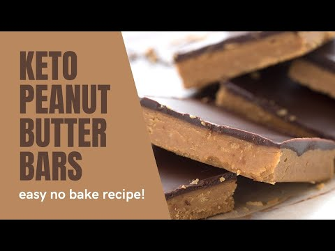 Easy Keto Peanut Butter Bars