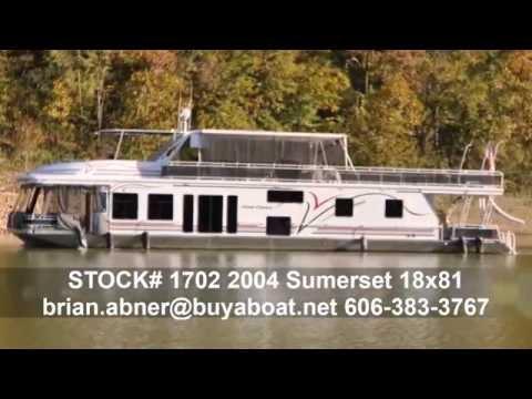 Houseboat2004 Sumerset 18 x 81 from Buyaboat.net Stock 1702