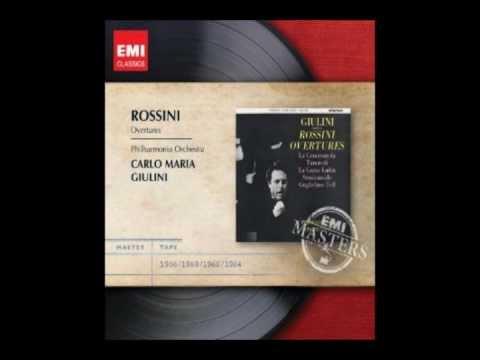 Carlo Maria Giulini conducts Rossini Overtures