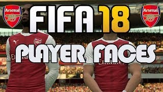 Fifa 18 game - new arsenal player faces