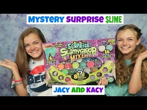 Mystery Surprise Slime Challenge ~ Jacy and Kacy