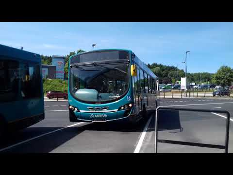 Arriva Midlands, Route 5 Stafford Departing Telford Bus Station, Telford
