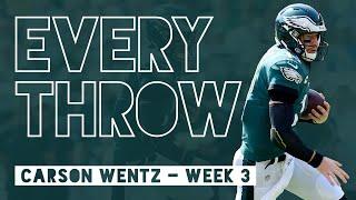 Carson Wentz vs. Detroit Lions (Week 3, 2019) - Every Throw