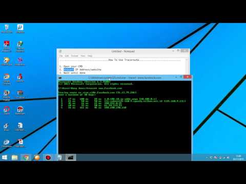 How To Use Trace Route On The Windows