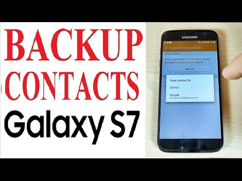 Samsung Galaxy S7, S7 edge - How to Backup Contacts on Google Account