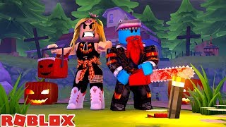 TRICK OR TREAT WITH LITTLE KELLY WE NEED YOUR HELP !!! Sharky Roblox