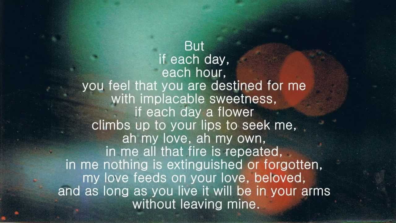 if you forget me by pablo neruda meaning
