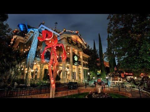[4K] 2016 Haunted Mansion Holiday (Low Light) - Disneyland Resort Complete Ridethrough POV streaming vf