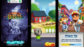 Subway Surfers vs Blades of Brim vs Talking Tom Gold Run