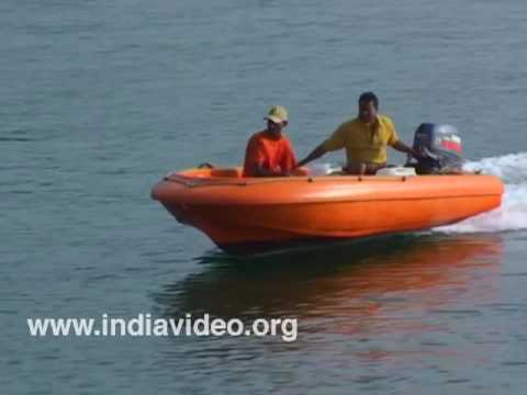 Boating off Dona Paula beach, Goa