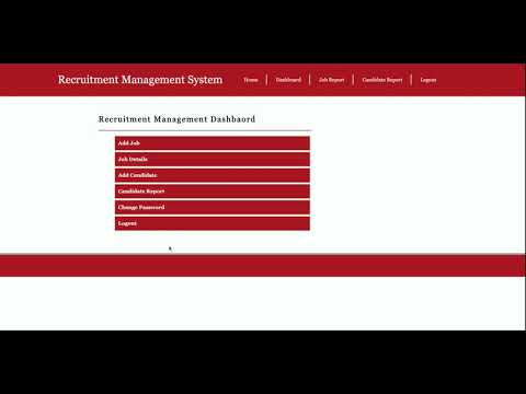 Python Django Project on Recruitment Management System