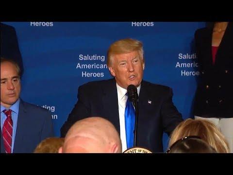President Trump at the Salute to American Heroes. July 25, 2017. Veterans Affairs Sec. Shulkin