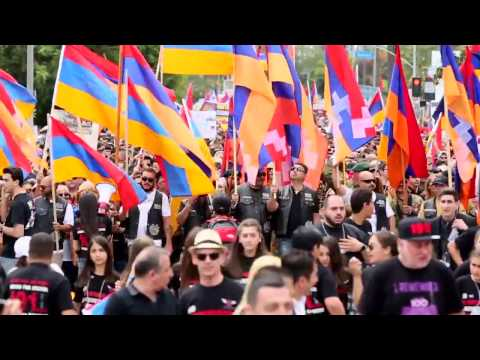Armenian Genocide Commemorative March for Justice in Little Armenia, Hollywood - April 24, 2016