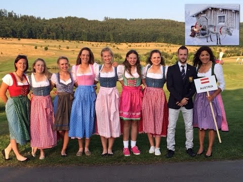 TRADITIONAL MUSIC FESTIVAL in SALZBURG AUSTRIA with AUSTRIAN DIRNDL ( SALZBURG GIRLS )