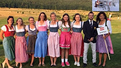 AFRICASIAEURO.COM/YOUTUBE Traditional music Salzburg Austria Europe girls with traditional dresses dirndl