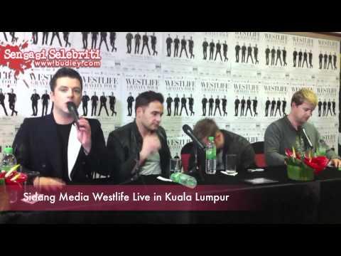 Sidang Media Westlife Live in Kuala Lumpur