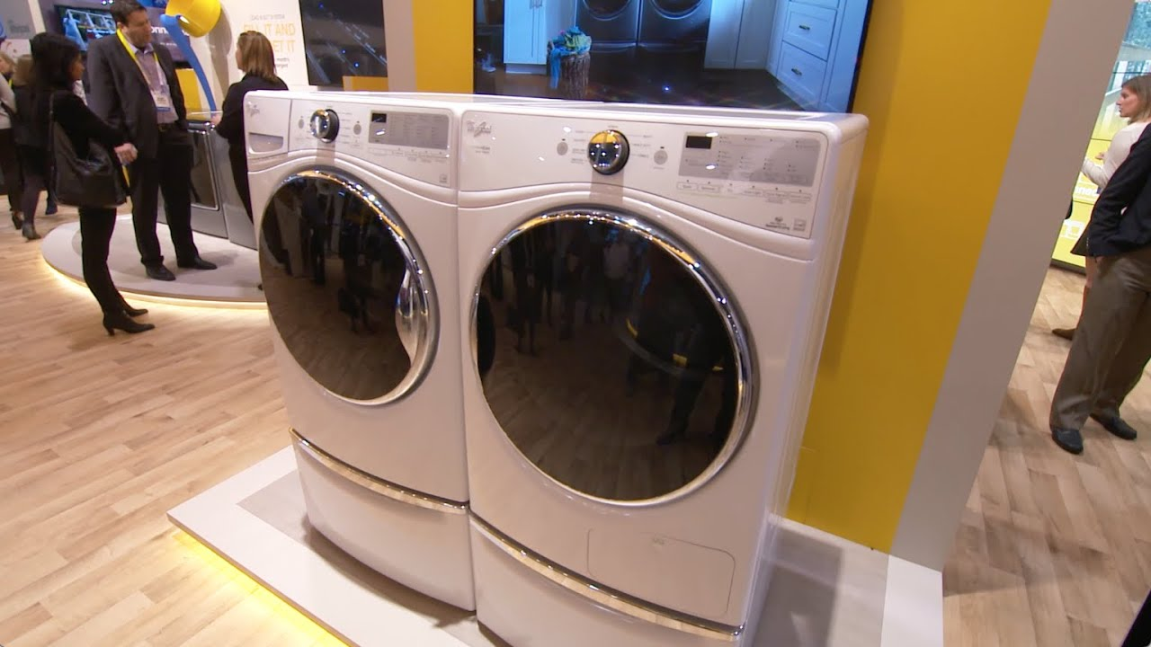 Whirlpool® Closet Depth Front Load Washer And HybridCare™ Heat Pump Dryer    YouTube