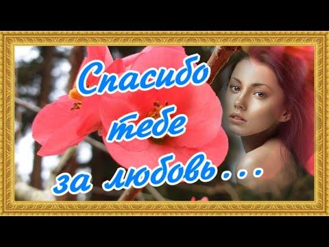 Спасибо за твою любовь ко мне... Романтическая открытка