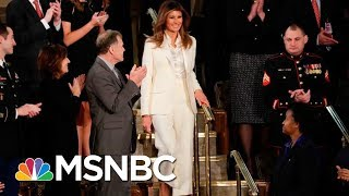 Melania Arrives Separately From President Donald Trump To State Of The Union | MSNBC