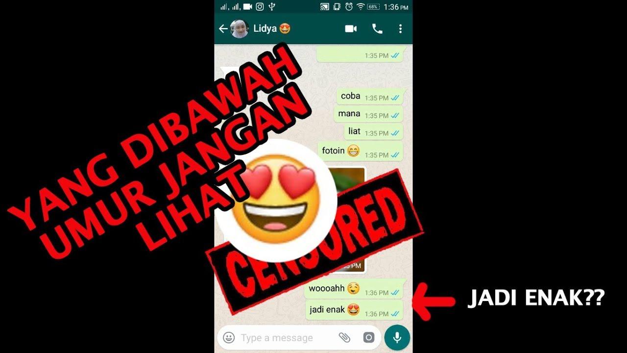 "Chat WA Lucu Dengan Pacar Bahagia Itu Sederhana ""2018"""