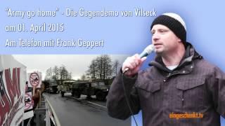 Nachgefragt... Protest gegen US Panzer - Telefonat mit Frank Geppert
