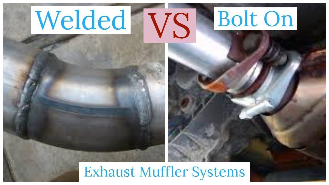 Welded Vs Bolt On Clamp Exhaust System Muffler Youtube