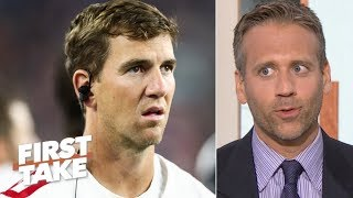 Giants should let Eli Manning take the hits and protect Daniel Jones – Max Kellerman | First Take
