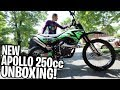 "UNBOXING New Apollo 250cc Dirt Bike! ""How To Put Together Apollo 250cc Dirt Bike"""