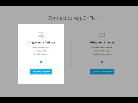 AppOnFly | Support | How do I connect using Remote Desktop?