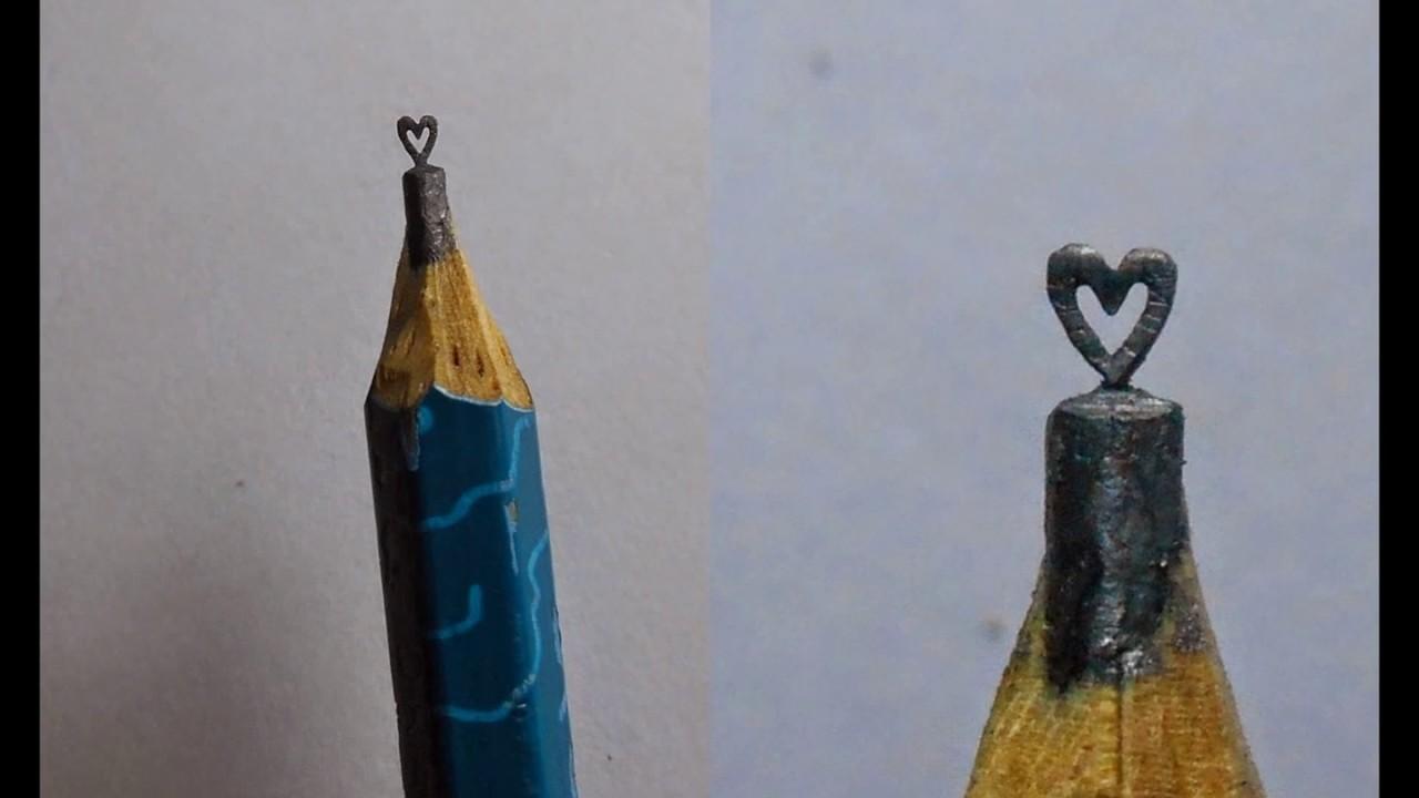 Micro art on pencil youtube