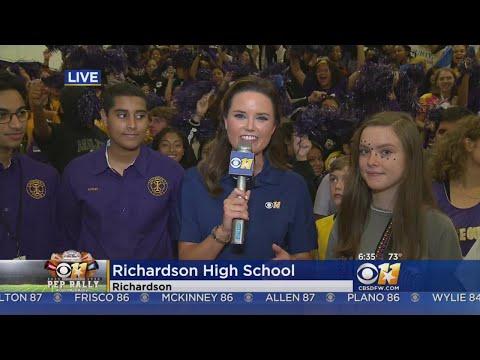 CBS 11 Pep Rally: Richardson High School Communications