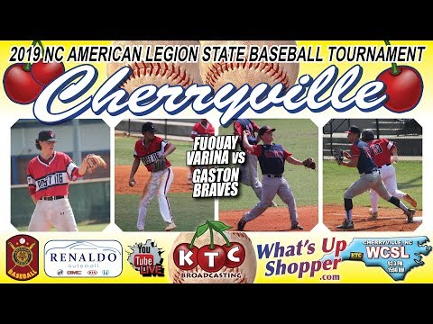 Gaston Braves Vs Fuquay Varina - NC American Legion Baseball Tournament
