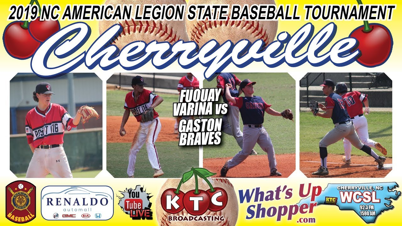 Gaston Braves Vs Fuquay Varina Nc American Legion Baseball Tournament