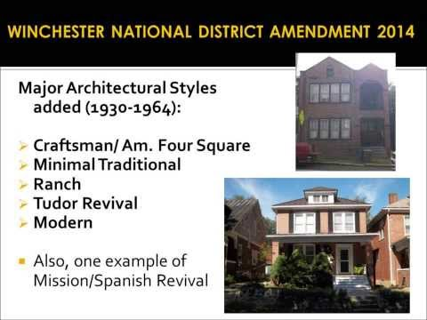 Winchester National Register District Amendment and Potential Expansion