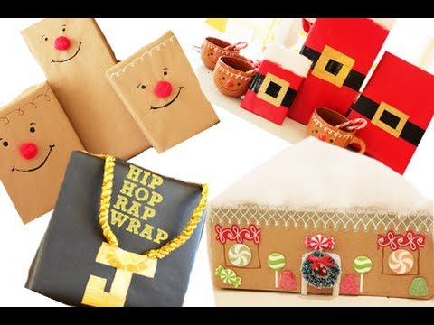 8 Fun Ways To Wrap A Christmas Present | Kandee Johnson - YouTube