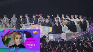 181201 BTS, BTOB, iKON, THE BOYZ reaction to (G)I-DLE 'Best New Female Artist' Award