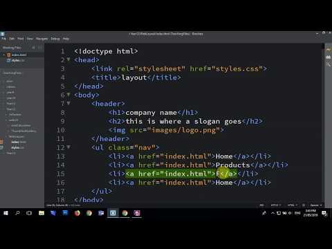 HTML CSS LayoutHeader