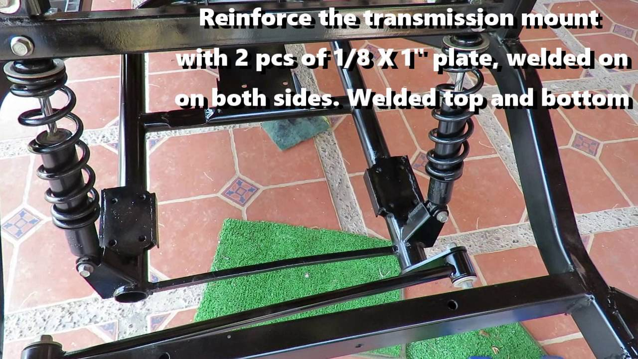 Yamaha Drive Gas Golf Cart Frame and Front end tip  YouTube
