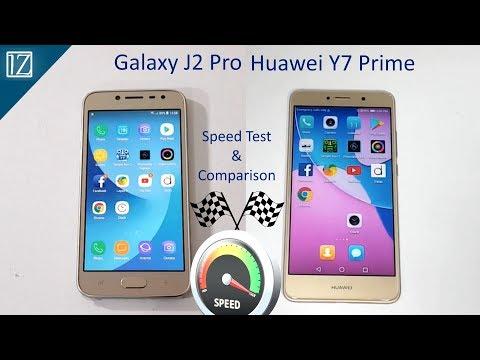 Samsung Galaxy J2 Pro 2018 Vs Huawei Y7 Prime Speed Test Comparison! Urdu/Hindi