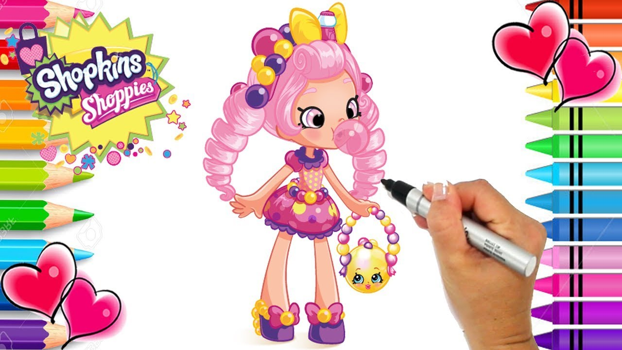Shopkins Shoppies Bubbleisha Coloring Page | Shoppies Coloring Book | Printable  Shopkins PDF