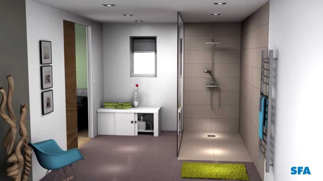 Sanifloor 4 wedi sfa installer une douche l 39 italienne youtube for Photo douche italienne